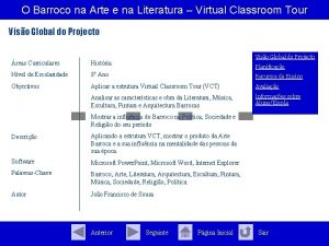 O Barroco na Arte e na Literatura Virtual