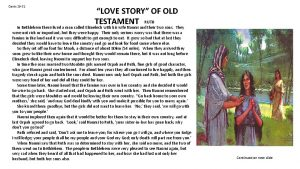 Cards 29 31 LOVE STORY OF OLD TESTAMENT