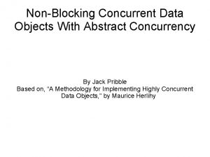 NonBlocking Concurrent Data Objects With Abstract Concurrency By
