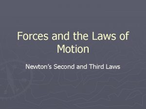 Forces and the Laws of Motion Newtons Second