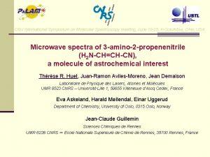 OSU International Symposium on Molecular Spectroscopy meeting June