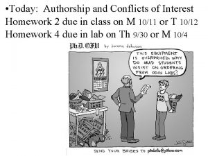 Today Authorship and Conflicts of Interest Homework 2