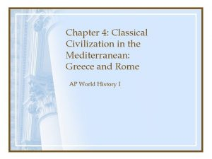 Chapter 4 Classical Civilization in the Mediterranean Greece