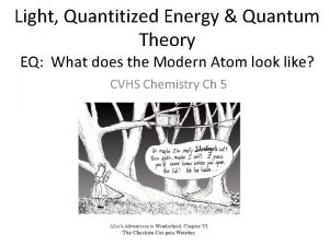 Light Quantitized Energy Quantum Theory EQ What does