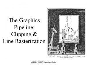 The Graphics Pipeline Clipping Line Rasterization MIT EECS