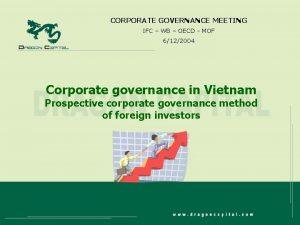 CORPORATE GOVERNANCE MEETING IFC WB OECD MOF 6122004