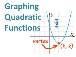 Graphing Quadratic Functions Table of Contents 1 Introduction