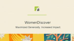 Women Discover Maximized Generosity Increased Impact 2620899 071819