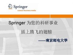 Springer 3 Springer 1842171 Founded Breite Strae Today