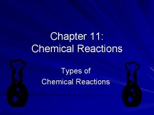 Chapter 11 Chemical Reactions Types of Chemical Reactions