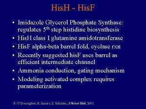 His H His F Imidazole Glycerol Phosphate Synthase