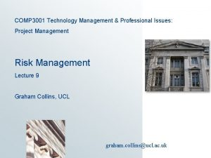 COMP 3001 Technology Management Professional Issues Project Management