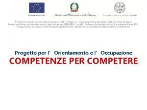 Programma operativo nazionale per le regioni dellobiettivo 1