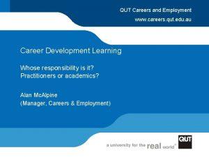 QUT Careers and Employment www careers qut edu