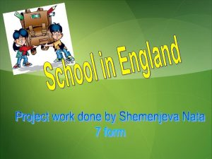 English schools State schools Primary schools Infant schools