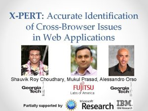 XPERT Accurate Identification of CrossBrowser Issues in Web