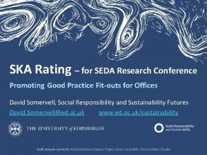 SKA Rating for SEDA Research Conference Promoting Good