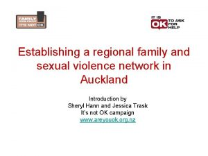 Establishing a regional family and sexual violence network