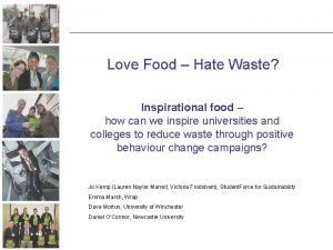 Love Food Hate Waste Inspirational food how can