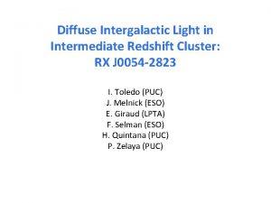 Diffuse Intergalactic Light in Intermediate Redshift Cluster RX