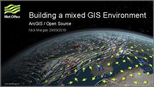 Building a mixed GIS Environment Arc GIS Open