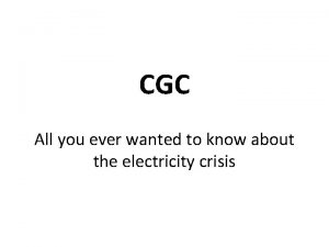CGC All you ever wanted to know about