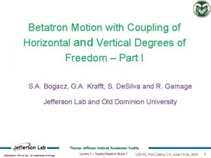 Betatron Motion with Coupling of Horizontal and Vertical