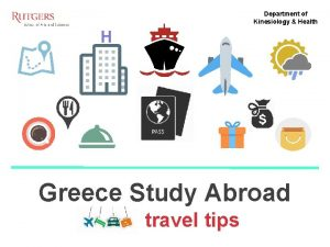 Department of Kinesiology Health H Greece Study Abroad
