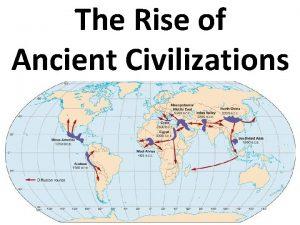 The Rise of Ancient Civilizations Each Civilizations grew