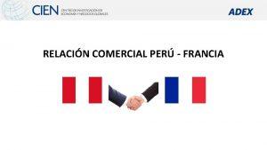 RELACIN COMERCIAL PER FRANCIA BALANZA COMERCIAL PER FRANCIA