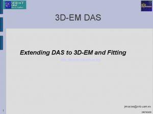 3 DEM DAS Extending DAS to 3 DEM