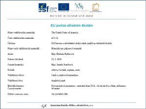 EU penze stednm kolm Nzev vzdlvacho materilu The