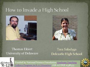How to Invade a High School Thomas Ekiert