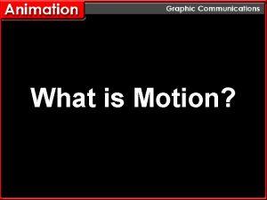 What is Motion What is Motion Motion is