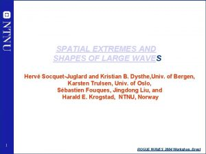 SPATIAL EXTREMES AND SHAPES OF LARGE WAVES Herv