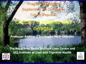 Prague Hepatology September 20 22 Prague Czech Republic