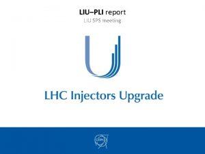 LIUPLI report LIU SPS meeting ECR and SRR