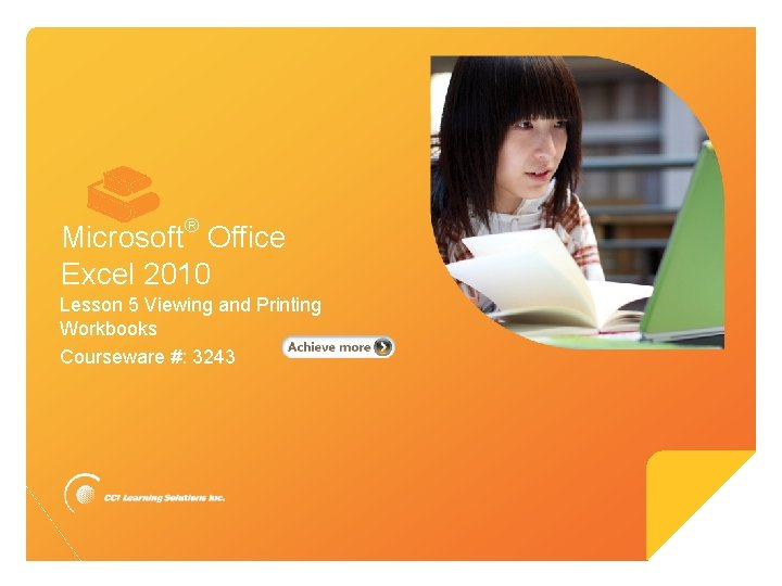 Microsoft Excel 2010 Microsoft Office Excel 2010 Lesson