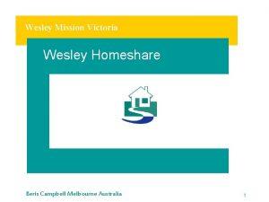 Wesley Mission Victoria Wesley Homeshare Beris Campbell Melbourne