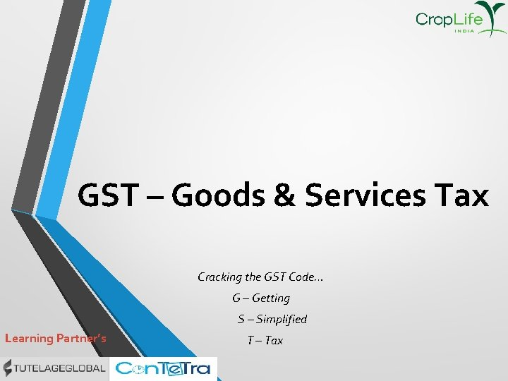 GST Goods Services Tax Cracking the GST Code