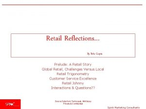 Retail Reflections By Bela Gupta Prelude A Retail
