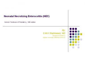 Neonatal Necrotizing Enterocolitis NEC Nelson Textbook of Pediatrics