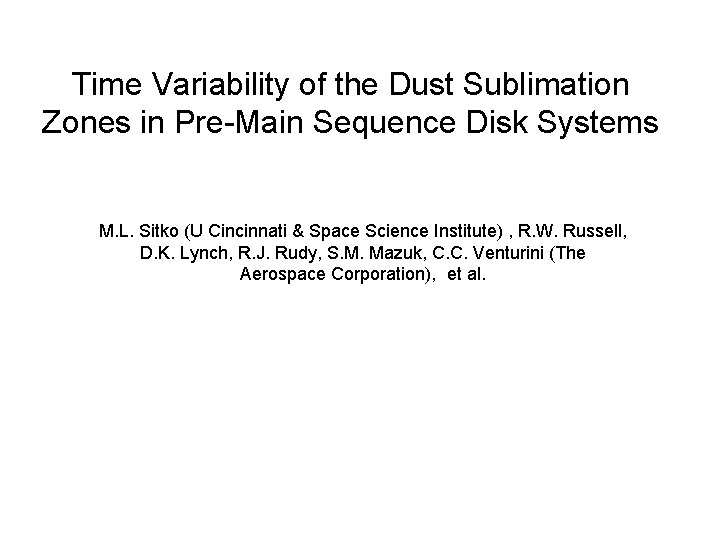 Time Variability of the Dust Sublimation Zones in