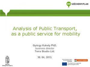 Analysis of Public Transport as a public service