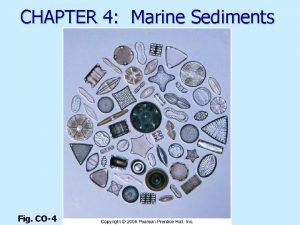CHAPTER 4 Marine Sediments Fig CO4 Marine sediments