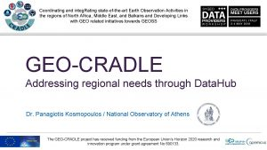Coordinating and integ Rating stateoftheart Earth Observation Activities
