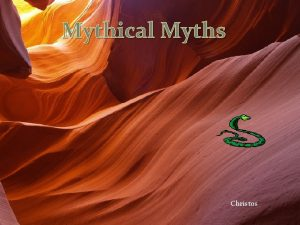 Mythical Myths Christos Summary and Watercolor of the
