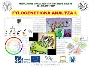 MODULARIZACE VUKY EVOLUN A EKOLOGICK BIOLOGIE CZ 1