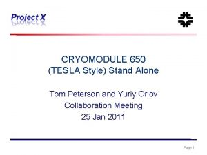 CRYOMODULE 650 TESLA Style Stand Alone Tom Peterson