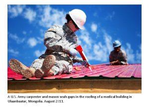 A U S Army carpenter and mason seals